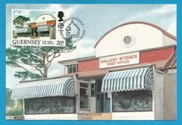 Guernsey 1990  Mi.Nr. 484 , EUROPA CEPT Postalische Einrichtungen - Maximum Card - Guernsey Post Office 27. FEB 1990 - Europa-CEPT