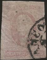 J) 1861 MEXICO, HIDALGO, 4 REALES, THIN PAPER, MN - Mexico