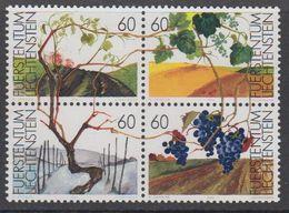 Liechtenstein 1994 Weinrebe 4v (bl) ** Mnh (43138A) - Ungebraucht