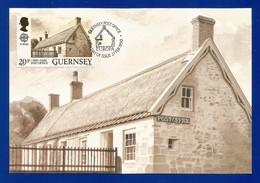Guernsey 1990  Mi.Nr. 483 , EUROPA CEPT Postalische Einrichtungen - Maximum Card - Guernsey Post Office 27. FEB 1990 - Europa-CEPT