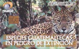 GUATEMALA - Animals Of Guatemala/Jaguar, Chip GEM3.1, Used - Guatemala