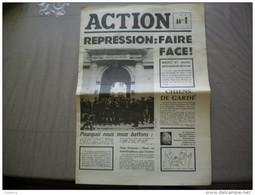 Journal Action N°1 Du 7 Mai 1968 - Siné - Wolinski - FRANCO DE PORT - Histoire