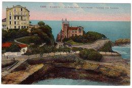 CPA 64 BIARRITZ La Villa Belza Et L'hôtel Château Des Falaises - Biarritz