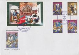 Enveloppe  FDC  1er  Jour   MADAGASCAR   Coupe  Du   Monde  De  Football   ITALIE  1990 - Madagascar (1960-...)