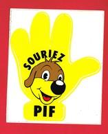 1 Autocollant SOURIEZ PIF  JEU 1979 éditions VAILLANT - Stickers