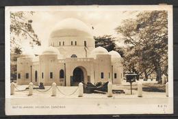 OLD BLACK & WHITE POSTCARD ZANZIBAR , TANZANIA BEIT EL AMANI MUSEUM - Tanzanie