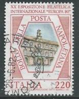 1980 ITALIA USATO ESPOSIZIONE FILATELICA NAPOLI EUROPA 80 SASSONE 1488 - IU1-3 - 6. 1946-.. República