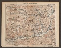 CARTE PLAN 1921 - LAMALOU Et Ses ENVIRONS - St GERVAIS VILLE CABREROLLES BEDARIEUX CASTANET L'ESPINOUSSE - Topographical Maps
