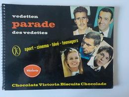 1960 Sixties Album 1 Chocolat Victoria Parade Des Vedettes Chromos Adamo B.B Claude François Cinéma Sport Teenagers - Cioccolato