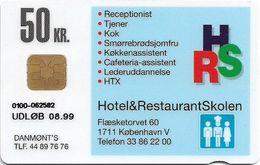 Denmark - Danmønt - Hotel & Restaurant School - DD179 - 50Kr. Exp. 08.1999, 1.500ex, Used - Dinamarca