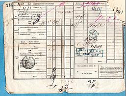 1873 CHEMINS DE FER DU MIDI ET P.L.M. RECEPISSSE Et RECU VOIR 3 PHOTOS - Transports
