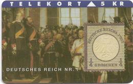 Denmark - TS - Rare Stamps - Deutches Reich No.1 - TDTP022 - 11.93, 3.000ex, Used - Denmark