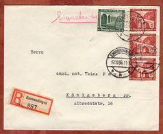 Einschreiben Reco, Winterhilfswerk Bruecken, Emmendingen Nach Koenigsberg 1936 (75053) - Deutschland