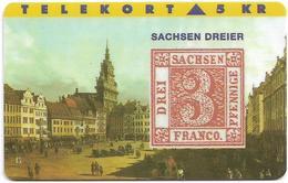 Denmark - TS - Rare Stamps - Sachsen Dreier - TDTP020 - 11.93, 3.000ex, Used - Denmark
