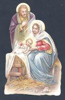 Image Pieuse Découpi - Le Christ Est Né - La Crèche - Santini