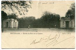 CPA - Carte Postale - Belgique - Bruxelles - Entrée Du Bois De La Cambre - 1905 (B8928) - Forêts, Parcs, Jardins