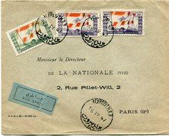 LIBAN LETTRE PAR AVION DEPART BEYROUTH 15 IV 47 POUR LA FRANCE - Libanon
