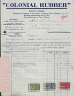 COLONIAL RUBBER * CAOUTCHOUC * BANDAGES PNEUMATIQUES POUR VELOS * RECAOUTCHAGE PNEUS D'AUTOS * 1937 * GAND * GENT * - Belgique