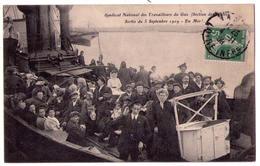 5020a - Syndicat National Des Travailleurs Du Gaz ( Section De Nantes ) - Sortie Du 5 Septembre 1909 ( En Mer ) - - Syndicats