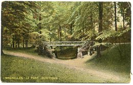 CPA - Carte Postale - Belgique - Bruxelles - Le Pont Rustique - 1910 (B8929) - Forêts, Parcs, Jardins