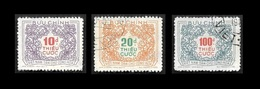 VIETNAM  Du Nord  1958 - Taxe  2 - 3 - 4 - Oblitérés - Viêt-Nam