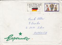 LANGUAGES, ESPERANTO, SPECIAL COVER, 1991, GERMANY - Esperanto