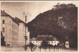 CPA DEVA- KING DECEBALUS MONUMENT, STATUE, SQUARE, FORTRESS HILL, RUINS - Rumänien