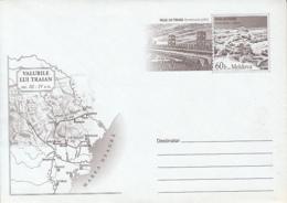 TRAJAN'S WALLS, FORTIFICATIONS, COVER STATIONERY, ENTIER POSTAL, 2006, MOLDOVA - Moldawien (Moldau)