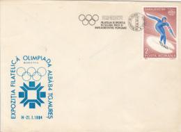 OLYMPIC GAMES, SARAJEVO'84, WINTER, SPEED SKATING STAMP, SPECIAL COVER, 1984, ROMANIA - Winter 1984: Sarajevo