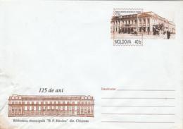 CHISINAU  B.P. HASDEU PUBLIC LIBRARY, COVER STATIONERY, ENTIER POSTAL, 2002, MOLDOVA - Moldawien (Moldau)