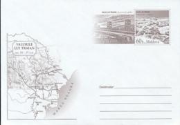 TRAJAN'S WALLS, ROMAN FORTIFIES, MAP, COVER STATIONERY, ENTIER POSTAL, 2006, MOLDOVA - Moldawien (Moldau)