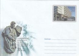 CHISINAU ION CREANGA PEDAGOGICAL UNIVERSITY, COVER STATIONERY, ENTIER POSTAL, 2010, MOLDOVA - Moldawien (Moldau)