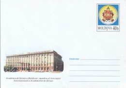 MOLDAVIAN SCIENCE ACADEMY, COVER STATIONERY, ENTIER POSTAL, 2003, MOLDOVA - Moldawien (Moldau)