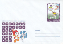 OLYMPIC GAMES, SINGAPORE'10 YOUTH OLYMPICS, COVER STATIONERY, ENTIER POSTAL, 2010, MOLDOVA - Ete 2010 : Singapour (JO De La Jeunesse)