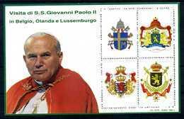 ERINNOFILIA / Visita S.S.Giovanni Paolo II In Belgio, Olanda E Lussem. - Vignetten (Erinnophilie)