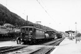 Neussargues. Locomotive BB 4204. Cliché Jacques Bazin. 03-09-1956 - Trains