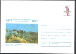 ART, PAINTINGS, NICOLAE GRIGORESCU- SMARDAN ASSAULT, COVER STATIONERY, ENTIER POSTAL, 1977, ROMANIA - Altri