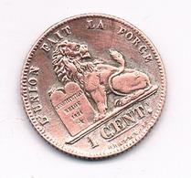 1 CENTIEM 1912 FR   BELGIE /4705/ - 1909-1934: Albert I