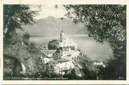 LOCARNO - BASILIC SANTUARIO MADONNA DEL SASSO. SVIZZERA SWITZERLAND POSTALE PORTAL CPA CIRCA 1900's NON CIRCULE -LILHU - TI Tessin