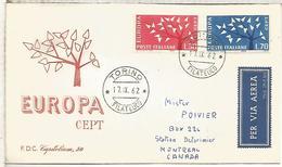 ITALIA FDC TORINO EUROPA CEPT 1962 - Europa-CEPT