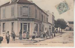 VILLIERS SUR MARNE - Rue De Paris ( Peinture Lorillon )  PRIX FIXE - Villiers Sur Marne