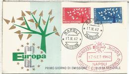 ITALIA FDC NAPOLI EUROPA CEPT 1962 - Europa-CEPT