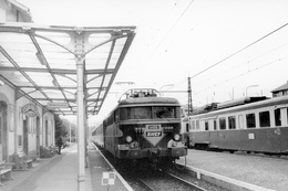 """Marvejols. """"L'Aubrac"""". Locomotive BB 9496. Cliché Jacques Bazin. 25-04-1983 - Trains"""