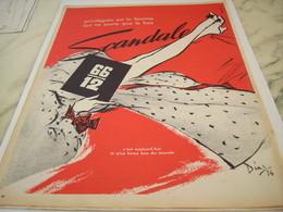 ANCIENNE PUBLICITE PRIVILEGIEE EST LA FEMME GAINE SCANDALE  1954 - Vintage Clothes & Linen