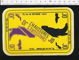 Autocollant Sticker Publicité Chaussures JO 81 Rue De Béthune Lille  21ADH18 - Autocollants