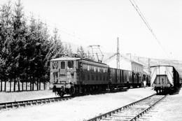 Le Monastier. Locomotive BB 4205. Cliché Jacques Bazin. 14-05-1956 - Trains
