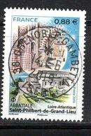 France 2019.Abbatiale Saint-philibert-de-Grand-Lieu.Cachet Rond Gomme D'Origine - France
