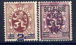 BELGIQUE - 315/316** - LION HERALDIQUE - 1929-1937 Heraldischer Löwe