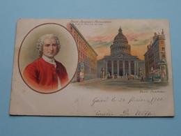 Jean-Jacques ROUSSEAU 28-VI-1712 / 2-VII-1778 ( Paris - Panthéon ) Anno 190? ( Zie Foto Voor Details ) ! - Ecrivains