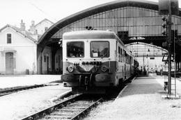 Bédarieux. Automotrice Z 7122. Cliché Jacques Bazin. 08-07-1972 - Trains